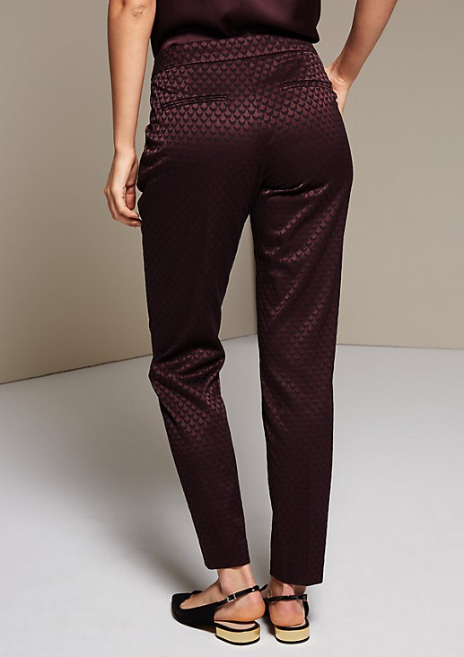 Feminine business trousers with a stunning jacquard pattern from s.Oliver
