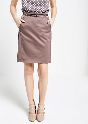 Extravagant satin skirt with beautiful details from s.Oliver