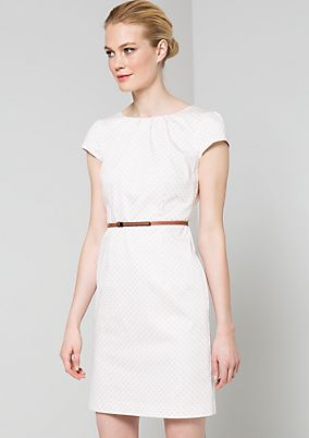 Statement evening dress with an elegant, minimalist pattern from s.Oliver