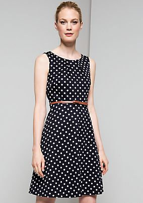 Charming casual dress with a pretty polka dot pattern from s.Oliver