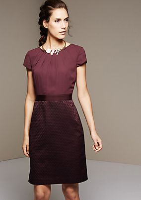 Pretty evening dress with a jacquard pattern from s.Oliver