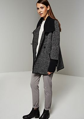 Sophisticated cardigan with a trendy, mottled black & white finish from s.Oliver