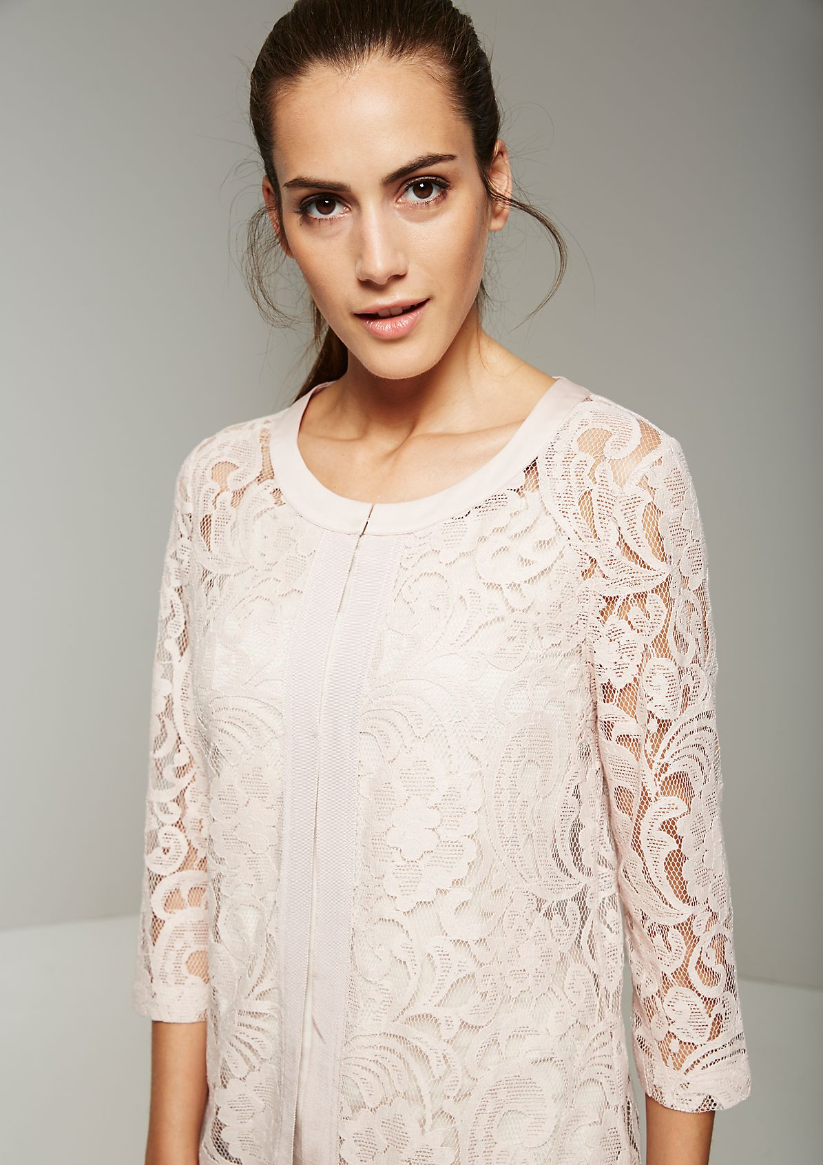 Extravagant coat in sheer lace from s.Oliver