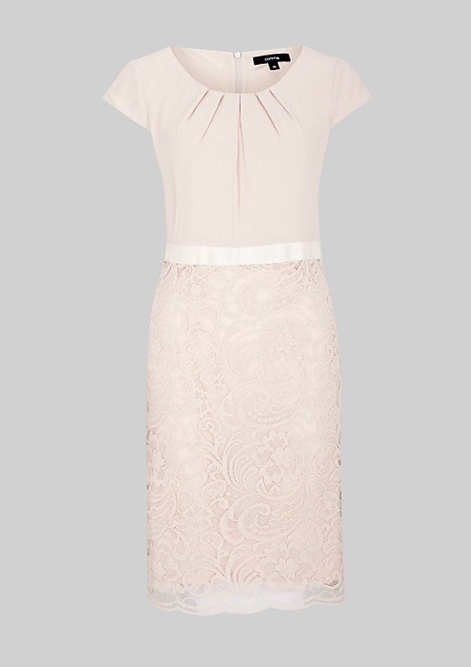 Elegant evening dress with elaborate lacework from s.Oliver