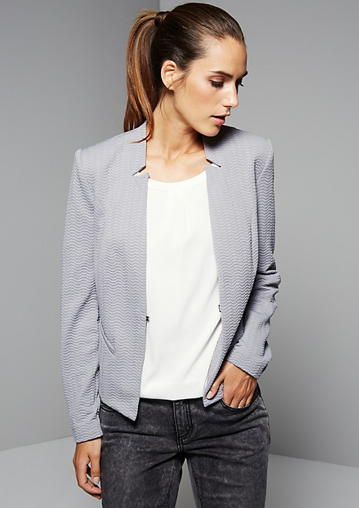 Elegant blazer with a decorative textured pattern from s.Oliver