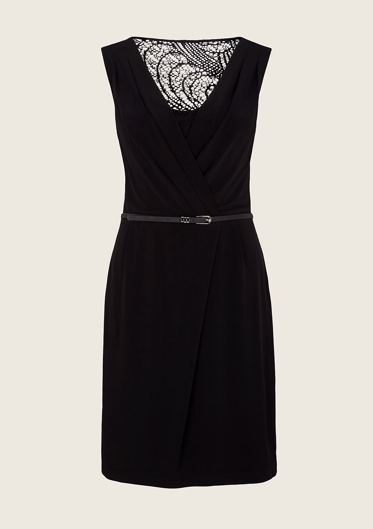 Extravagant evening dress with an elegant lace trim from s.Oliver