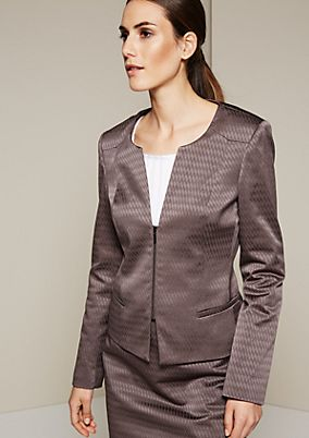 Elegant business blazer with a fine jacquard pattern from s.Oliver
