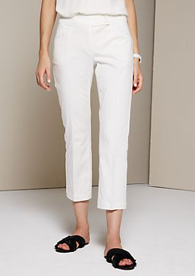 Sporty satin trousers with wonderful details from s.Oliver