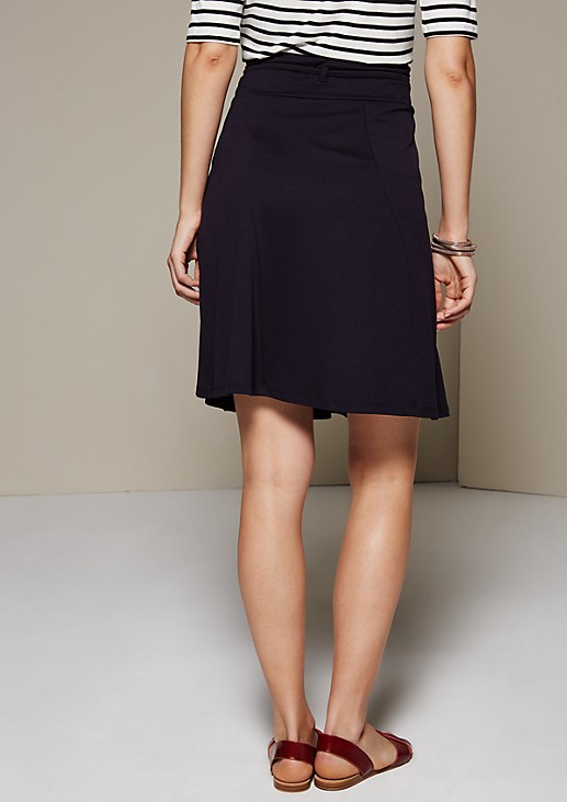 Short jersey skirt with a sophisticated panel design from s.Oliver