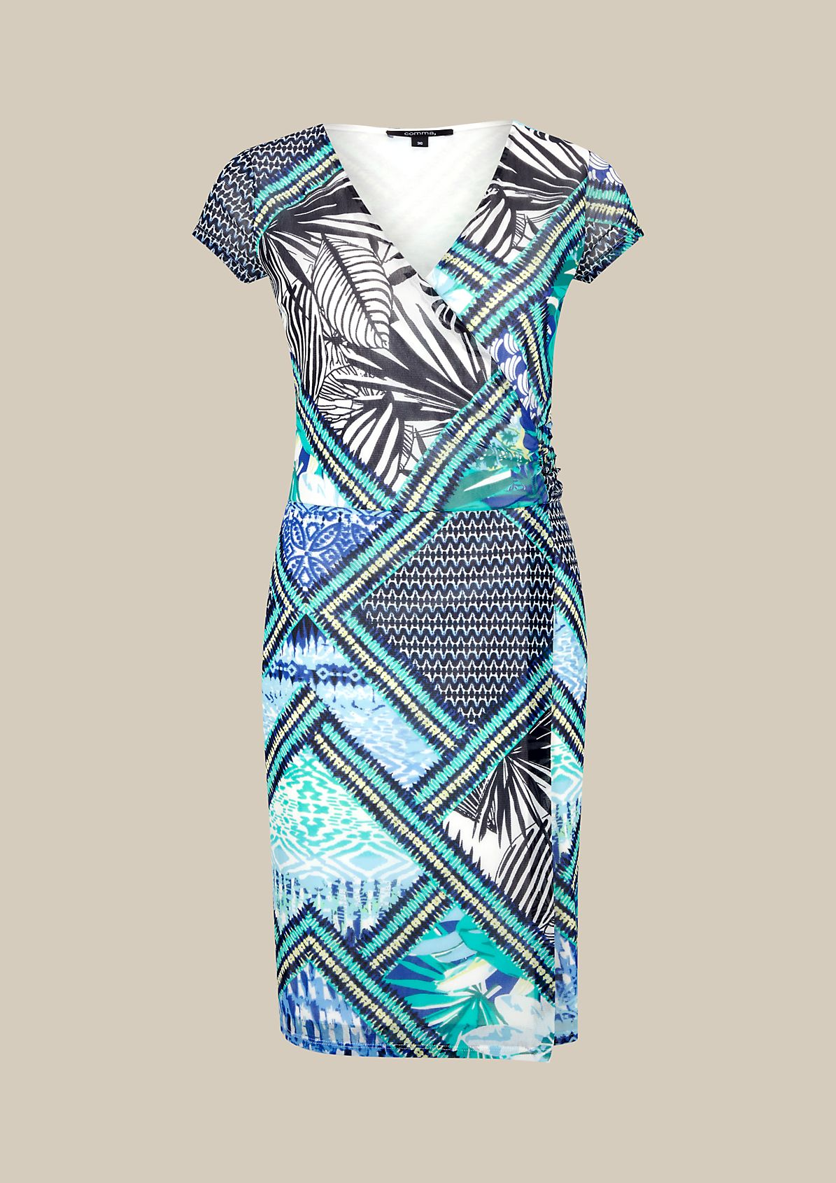 Beautiful chiffon dress with a wonderful pattern from s.Oliver