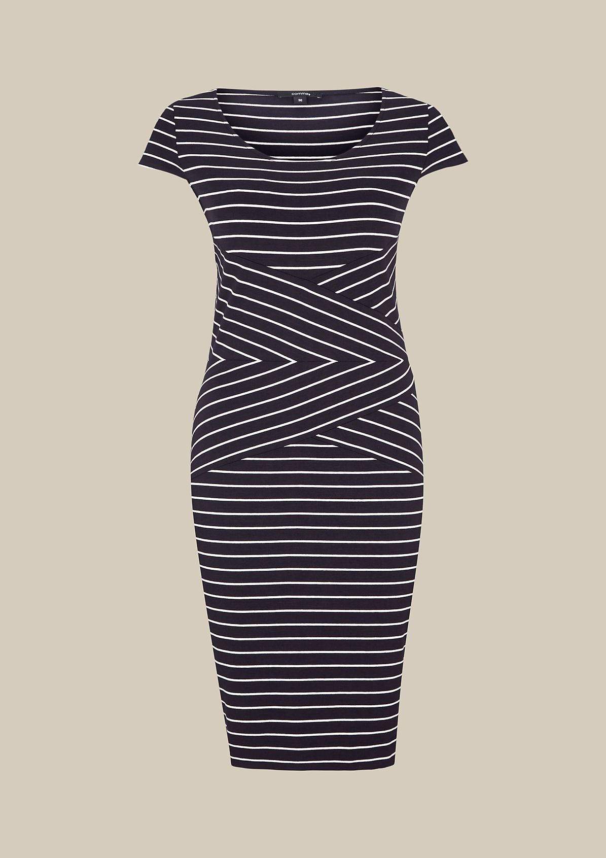 Sporty jersey dress with a beautiful striped pattern from s.Oliver