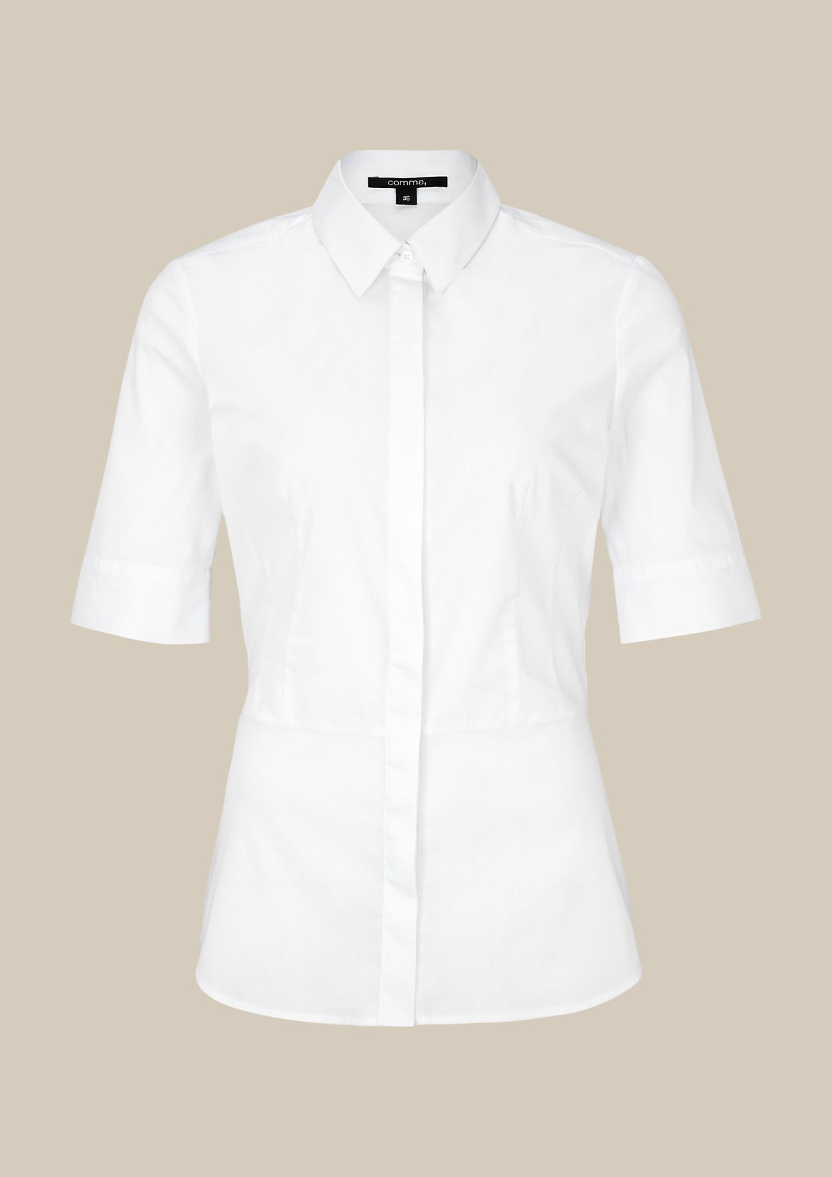 Elegant short sleeve blouse with sophisticated details from s.Oliver