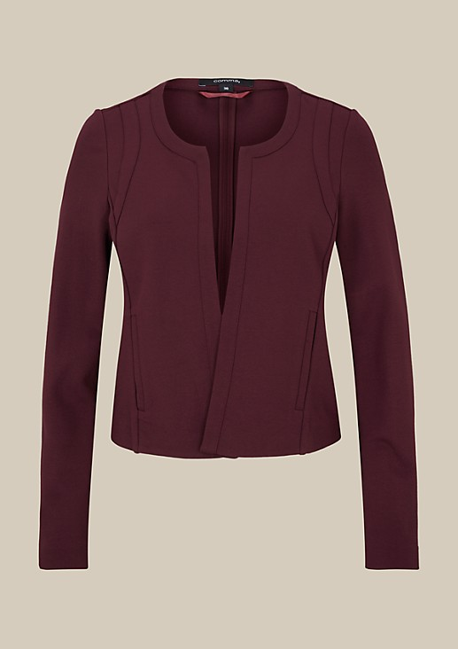 Elegant short blazer with sophisticated details from s.Oliver