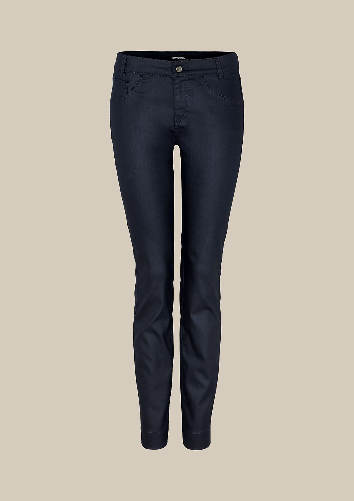 Casual coated jeans with a matte sheen from s.Oliver