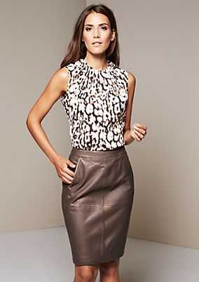Elegant satin top with a decorative all-over pattern from s.Oliver