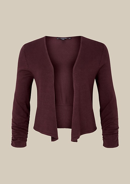Lightweight fine knit cardigan with 3/4-length sleeves from s.Oliver