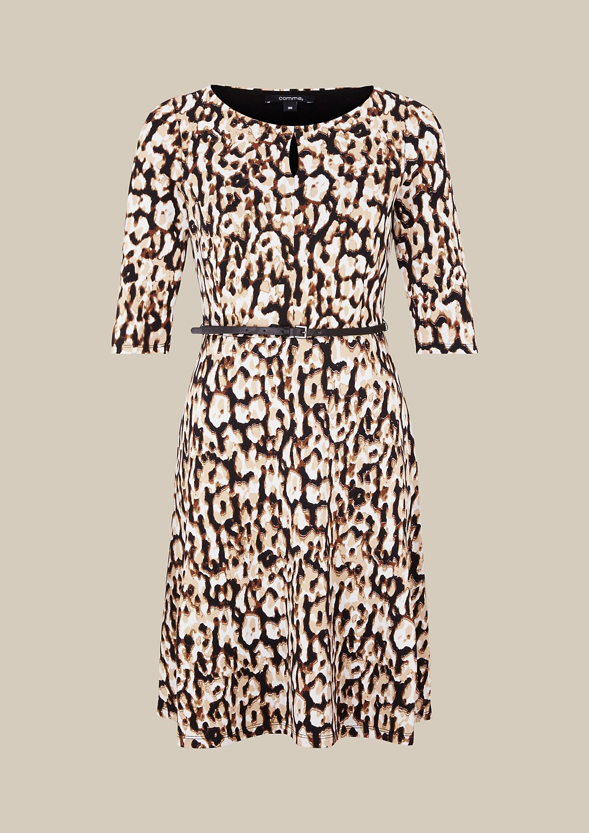 Extravagant casual dress with a colourful all-over print from s.Oliver