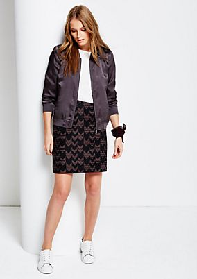 Lightweight bomber jacket with a textured pattern from s.Oliver