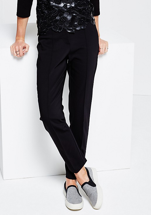 Elegant business trousers with exciting details from s.Oliver