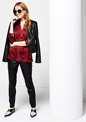 Elegant satin blouse with sophisticated details from s.Oliver