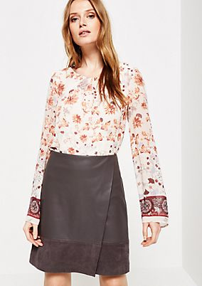 Delicate chiffon blouse with a beautiful all-over pattern from s.Oliver