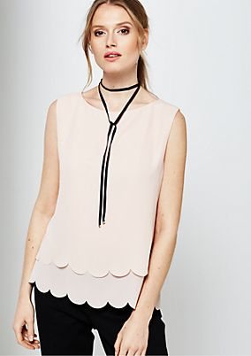 Smart chiffon blouse in a layered look from s.Oliver