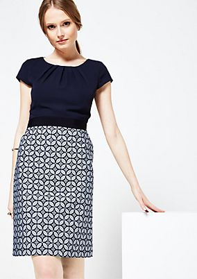 Beautiful business dress with a jacquard skirt from s.Oliver
