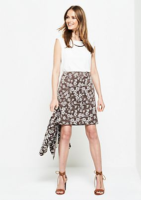 Elegant business skirt with a decorative jacquard pattern from s.Oliver