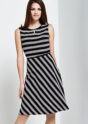 Casual summer dress with stripes from s.Oliver