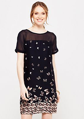 Elegant casual dress with a decorative print from s.Oliver