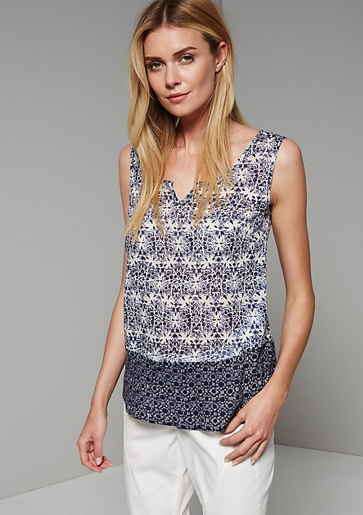 Delicate blouse top in a sophisticated pattern from s.Oliver