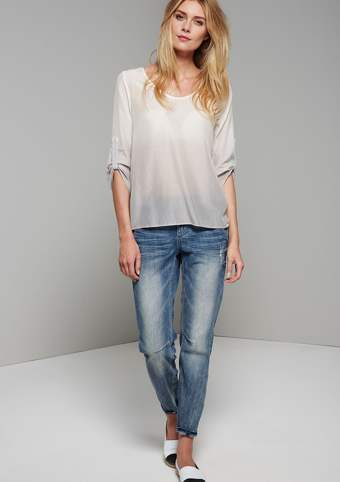 Casual blouse with 3/4-length sleeves and a fabulous graduated colour from s.Oliver