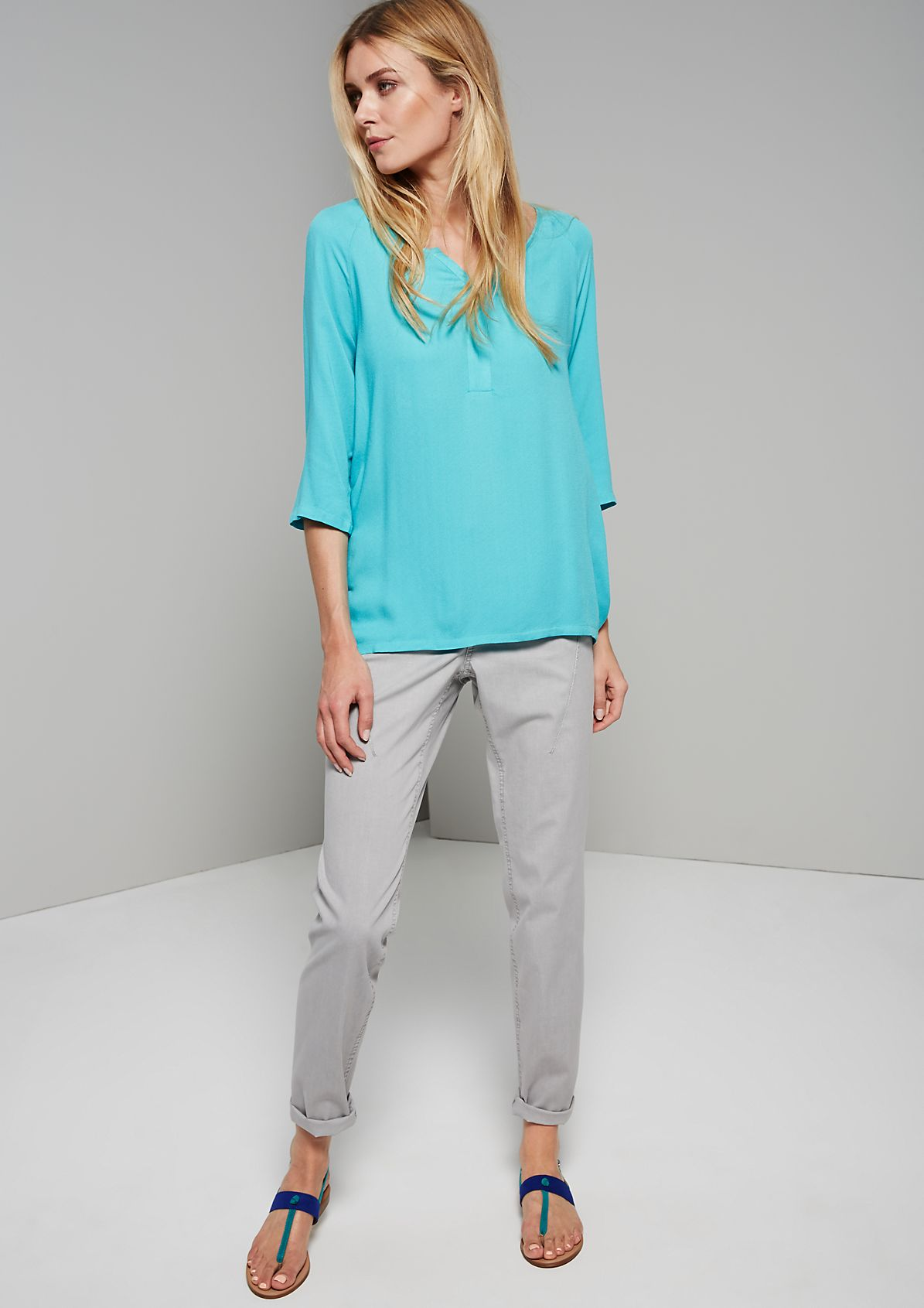 Feminine blouse with gorgeous design features from s.Oliver