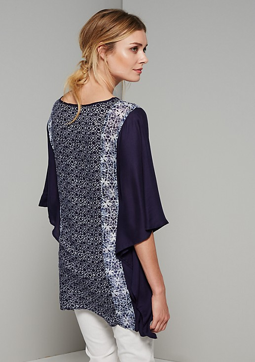Elegant tunic in a summery mix of patterns from s.Oliver