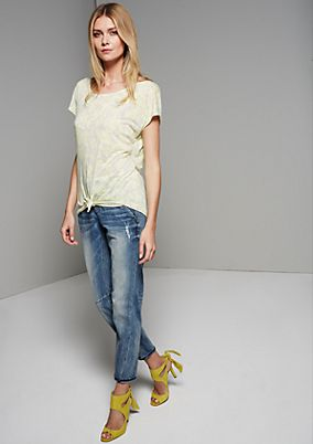 Lightweight short sleeve T-shirt with a sophisticated tropical print from s.Oliver