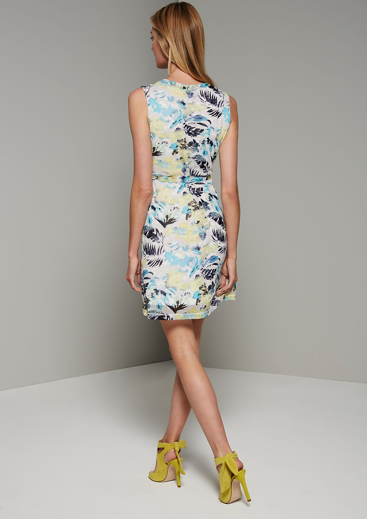 Lightweight mesh dress with a colourful all-over print from s.Oliver