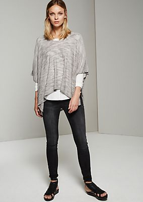 Feminine poncho with sophisticated details from s.Oliver