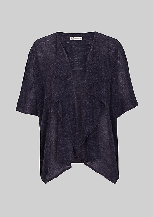 Sophisticated poncho with a sequin trim from s.Oliver
