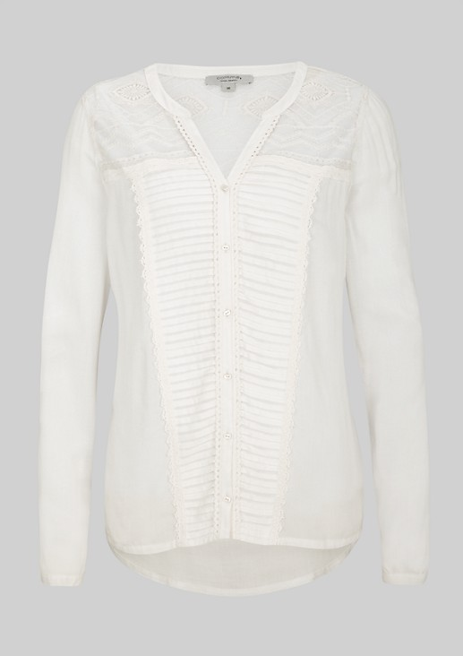 Elegant blouse with exciting lace elements from s.Oliver
