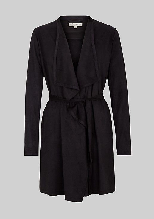 Elegant coat made from soft Alcantara from s.Oliver