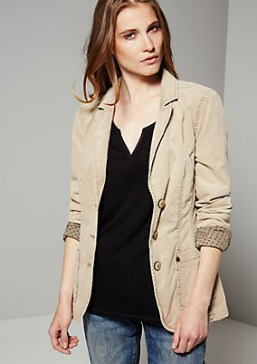 Sporty cord blazer in a vintage look from s.Oliver