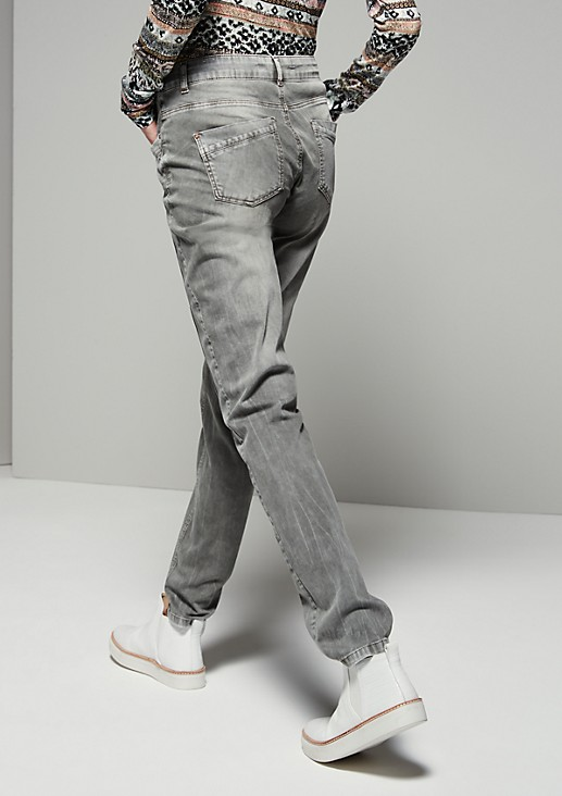Casual trousers in a raw vintage garment wash from s.Oliver