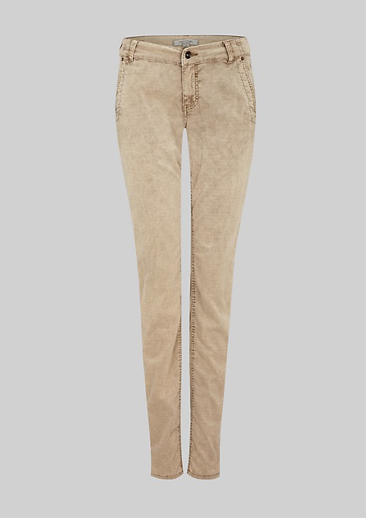 Lightweight jeans made from fine baby cord from s.Oliver