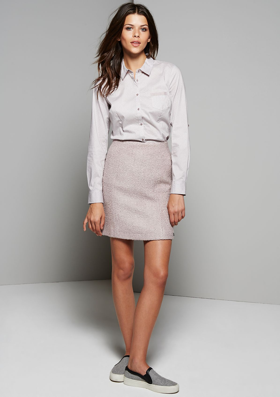 Elegant business blouse with an all-over geometric pattern from s.Oliver