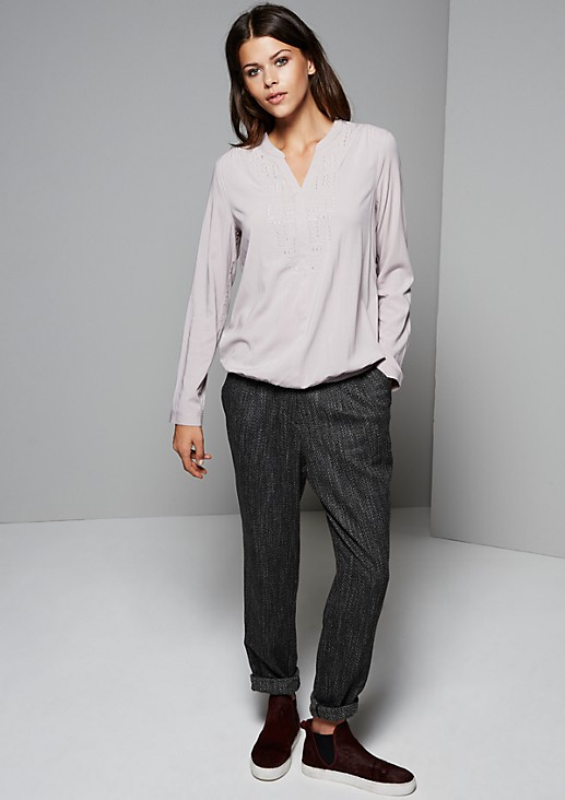 Casual long sleeve blouse with a smart knitted pattern from s.Oliver