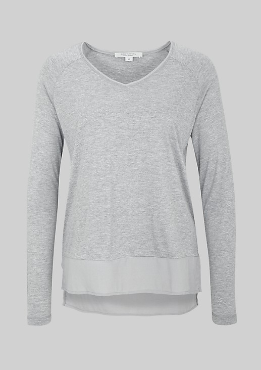 Fine long sleeve jersey top with fascinating details from s.Oliver