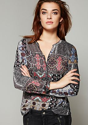 Lightweight modal blouse with a pretty pattern from s.Oliver