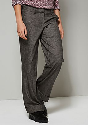 Elegant trousers in a classic, mottled black & white design from s.Oliver