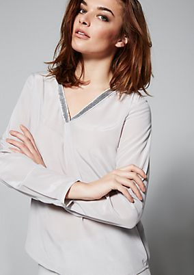 Luxurious blouse in elegant silk from s.Oliver