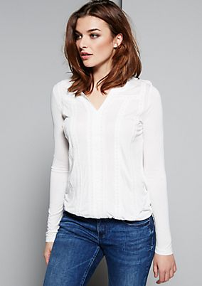 Beautiful long sleeve top with decorative ribbon from s.Oliver